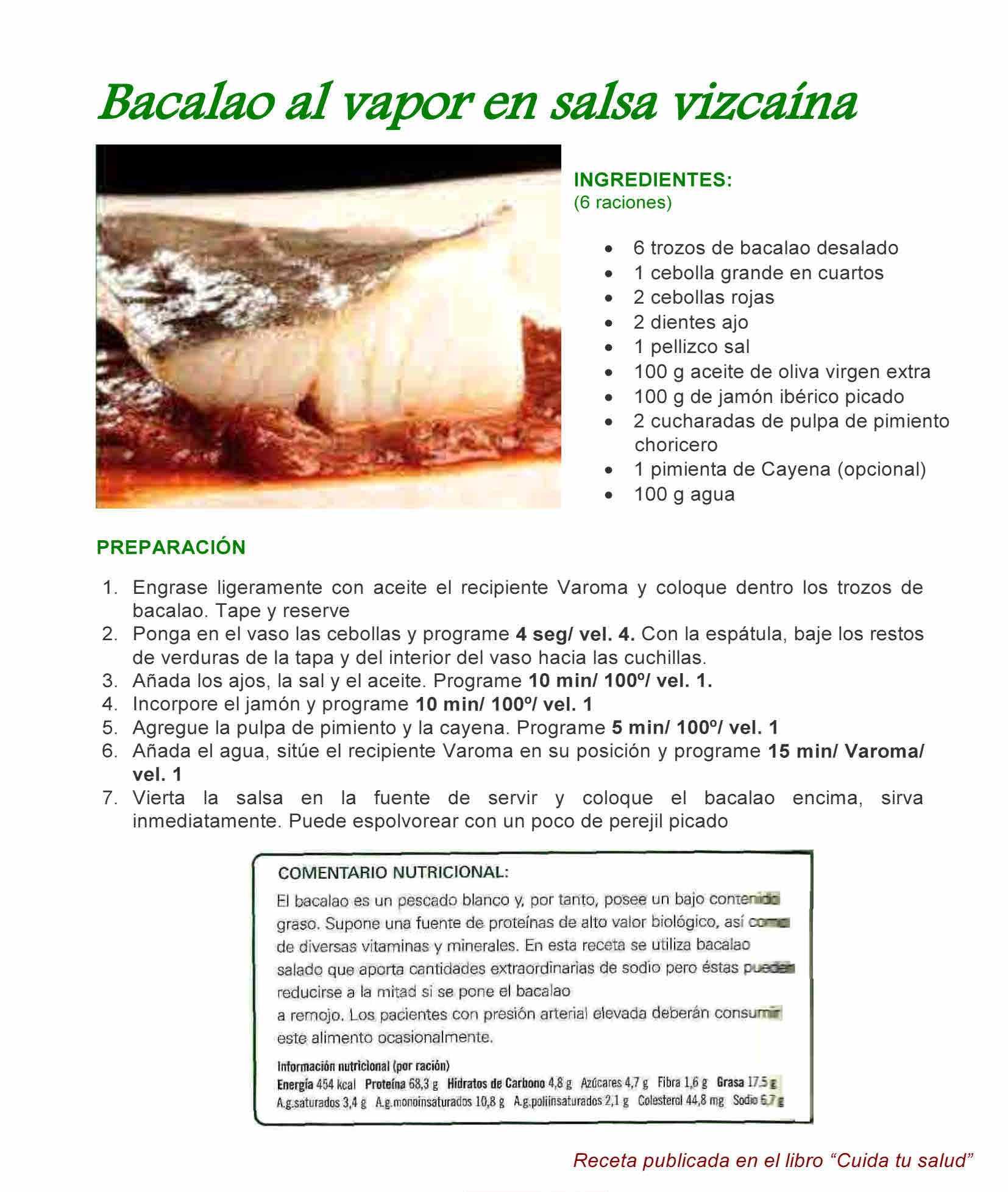 BACALAO EN SALSA VIZCAINA CON Thermomix®