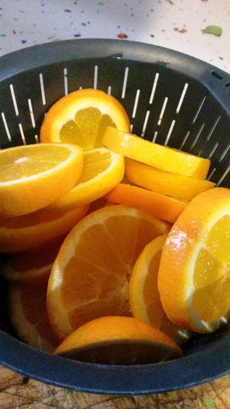 Naranjas confitadas con Thermomix® , especial para roscón de Reyes