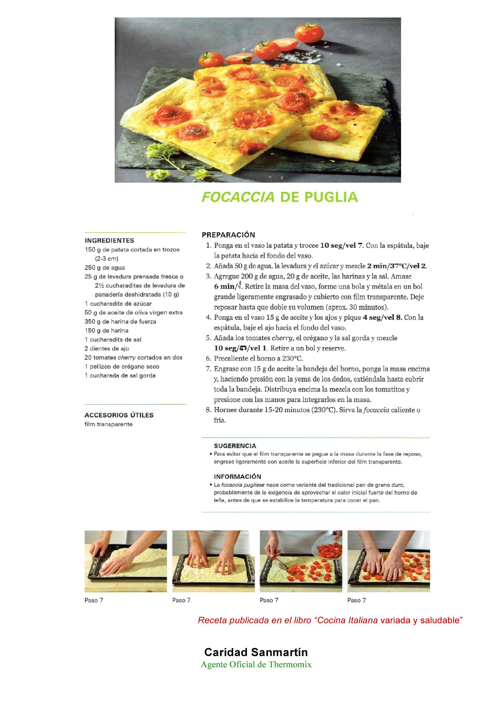 FOCACCIA DE PUGLIA. COCINA ITALIANA CON Thermomix®