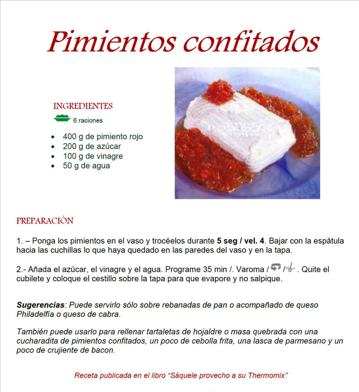 PIMIENTOS CONFITADOS EN MI NUEVA Thermomix® TM5
