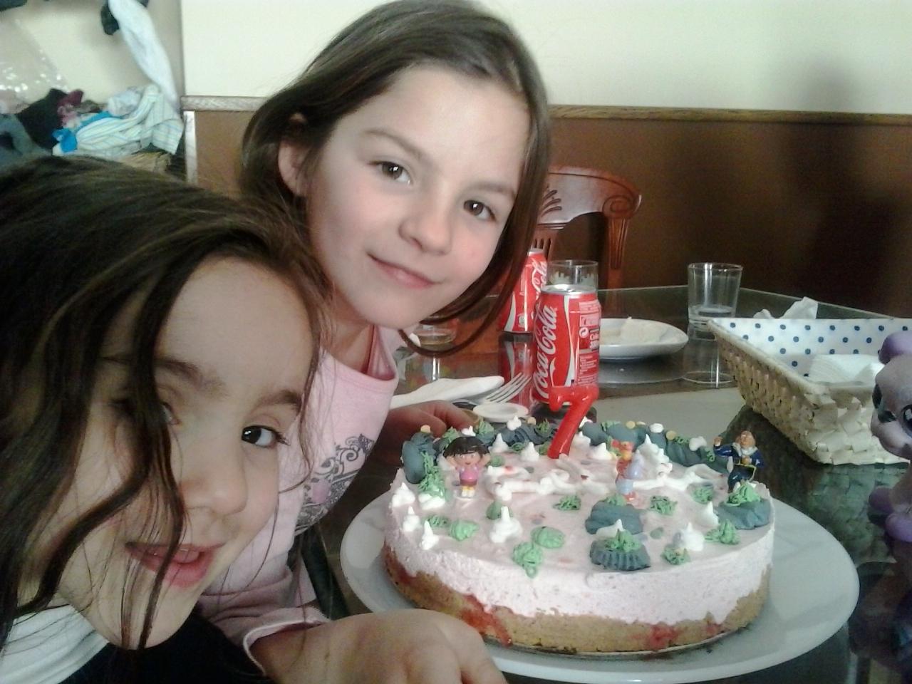 TARTA HELADA de fresas y nata con Thermomix®