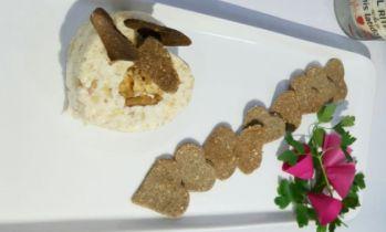 Mousse de Camenbert, nueces y piña con Thermomix®