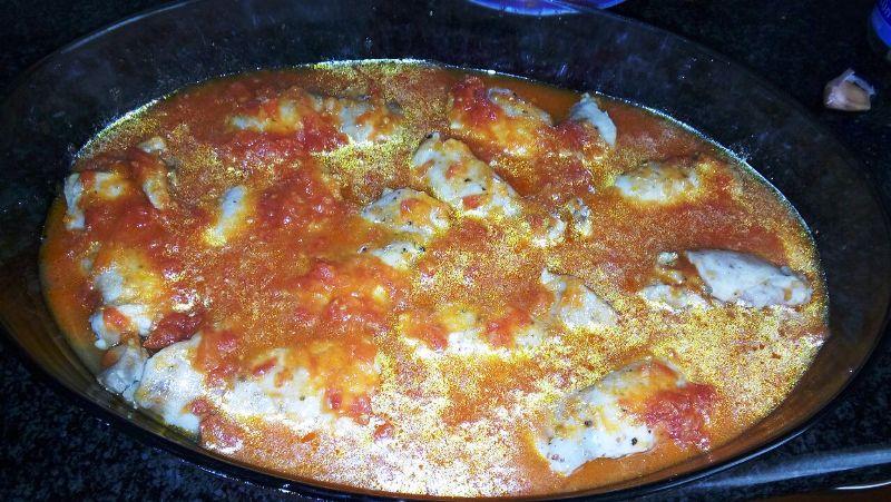 Pollo a la Pizzaiola con Thermomix® .... para niños...