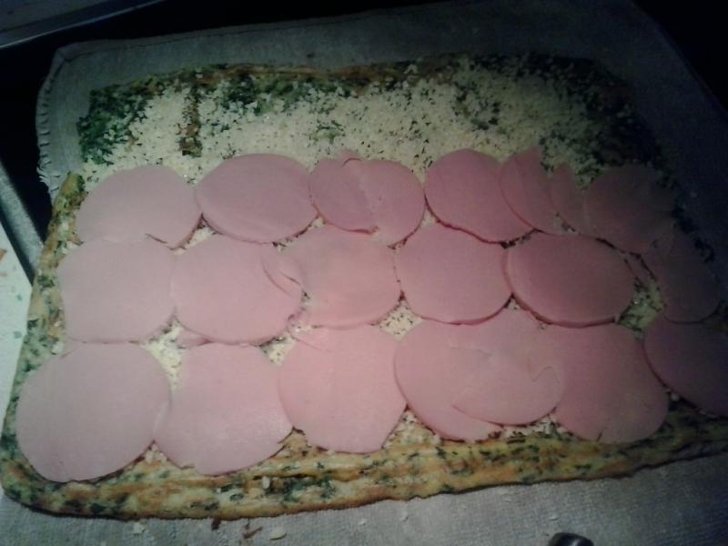 Rollo de espinacas con jamon york y queso con Thermomix®