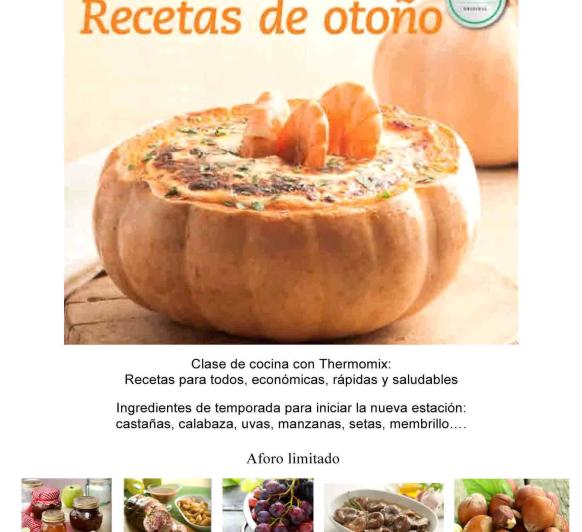 RECETAS DE OTOÑO - NUEVO TALLER CON Thermomix®