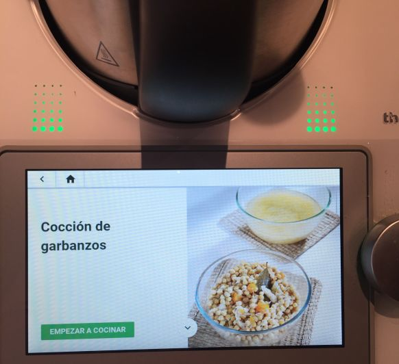 Garbanzos cocidos en nuestra Thermomix® !! Sano y fácil.