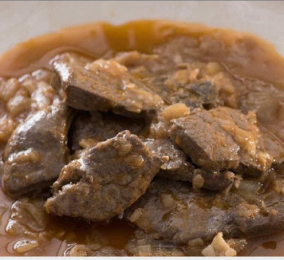 COCINA SANO EN 30 MINUTOS: Hígado encebollado al vino de Jerez