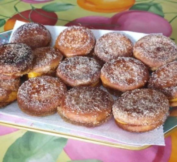 Torrijas de galletas con flan