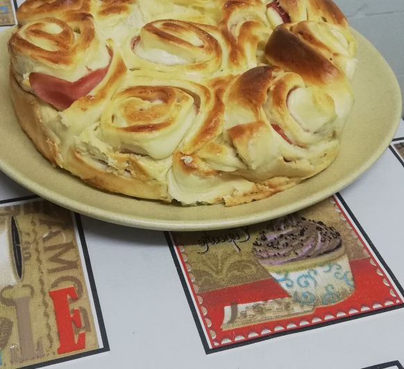 Roll de jamón y queso con Thermomix® celebra San Valentín ♥