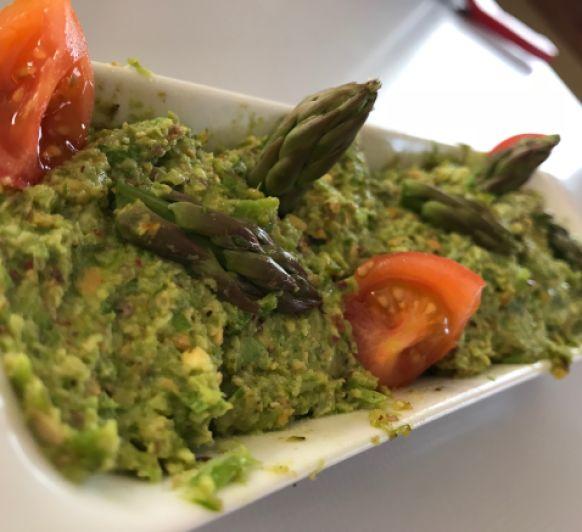 Pate de esparragos y pistachos con Thermomix®