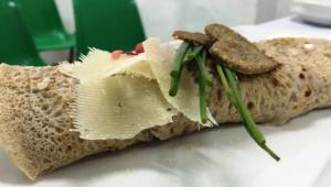 Fajitas de Verdura y queso con Thermomix® bajo en grasas