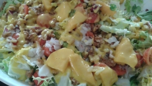 Ensalada de Bacalo con vinagreta de mango con Thermomix®