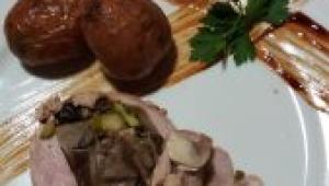 Lomo relleno de setas,champiñon,esparragos con Thermomix® Navidad