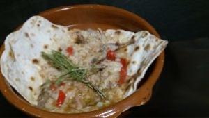 Gazpachos tipicos de Yecla, masa de la torta con Thermomix®