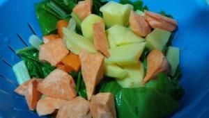 Potaje de verduras con bacalao con Thermomix®
